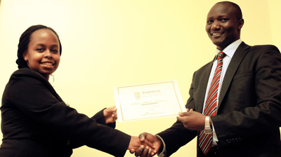 Top KCSE Student -2013 benefits from Strathmore Scholarship